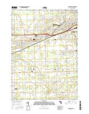 Swartz Creek Michigan Current topographic map, 1:24000 scale, 7.5 X 7.5 Minute, Year 2017 from Michigan Maps Store