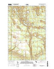 Tahquamenon Lakes Michigan Current topographic map, 1:24000 scale, 7.5 X 7.5 Minute, Year 2017 from Michigan Maps Store