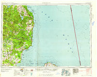 Tawas City Michigan Historical topographic map, 1:250000 scale, 1 X 2 Degree, Year 1958