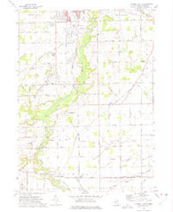 Tecumseh South Michigan Historical topographic map, 1:24000 scale, 7.5 X 7.5 Minute, Year 1972