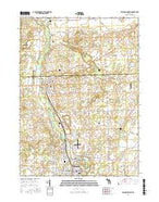 Tecumseh North Michigan Current topographic map, 1:24000 scale, 7.5 X 7.5 Minute, Year 2017 from Michigan Map Store