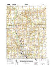 Tecumseh North Michigan Current topographic map, 1:24000 scale, 7.5 X 7.5 Minute, Year 2017 from Michigan Maps Store