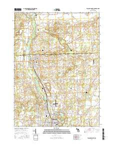 Tecumseh North Michigan Current topographic map, 1:24000 scale, 7.5 X 7.5 Minute, Year 2017