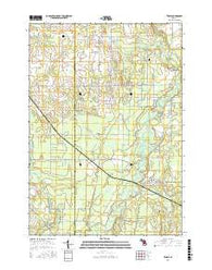 Temple Michigan Current topographic map, 1:24000 scale, 7.5 X 7.5 Minute, Year 2016