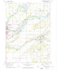 Three Rivers East Michigan Historical topographic map, 1:24000 scale, 7.5 X 7.5 Minute, Year 1972