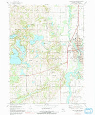 Three Rivers West Michigan Historical topographic map, 1:24000 scale, 7.5 X 7.5 Minute, Year 1972