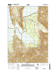 Torch River Michigan Current topographic map, 1:24000 scale, 7.5 X 7.5 Minute, Year 2016