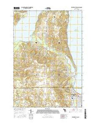 Traverse City SW Michigan Current topographic map, 1:24000 scale, 7.5 X 7.5 Minute, Year 2016