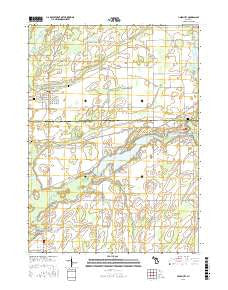 Union City Michigan Current topographic map, 1:24000 scale, 7.5 X 7.5 Minute, Year 2016