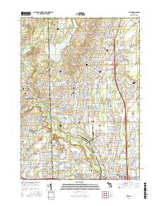 Utica Michigan Current topographic map, 1:24000 scale, 7.5 X 7.5 Minute, Year 2017