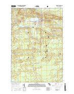 Wakefield Michigan Current topographic map, 1:24000 scale, 7.5 X 7.5 Minute, Year 2017 from Michigan Map Store