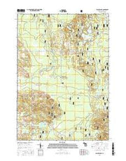 Walkup Lake Michigan Current topographic map, 1:24000 scale, 7.5 X 7.5 Minute, Year 2017 from Michigan Maps Store
