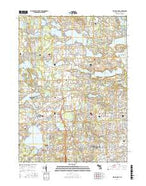 Walled Lake Michigan Current topographic map, 1:24000 scale, 7.5 X 7.5 Minute, Year 2017 from Michigan Map Store