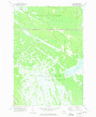 Walsh Michigan Historical topographic map, 1:24000 scale, 7.5 X 7.5 Minute, Year 1972