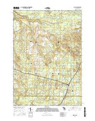 Walton Michigan Current topographic map, 1:24000 scale, 7.5 X 7.5 Minute, Year 2016