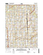 Warren Michigan Current topographic map, 1:24000 scale, 7.5 X 7.5 Minute, Year 2017 from Michigan Map Store