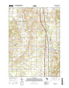Wayland Michigan Current topographic map, 1:24000 scale, 7.5 X 7.5 Minute, Year 2016