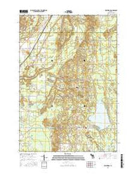 Westwood Michigan Current topographic map, 1:24000 scale, 7.5 X 7.5 Minute, Year 2016