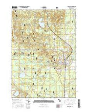 White Cloud Michigan Current topographic map, 1:24000 scale, 7.5 X 7.5 Minute, Year 2017 from Michigan Maps Store