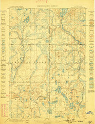 Witbeck Michigan Historical topographic map, 1:62500 scale, 15 X 15 Minute, Year 1899