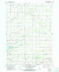 Woodbury Michigan Historical topographic map, 1:24000 scale, 7.5 X 7.5 Minute, Year 1978