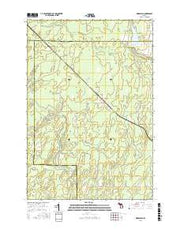 Woodlawn Michigan Current topographic map, 1:24000 scale, 7.5 X 7.5 Minute, Year 2016 from Michigan Maps Store