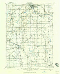 Ypsilanti Michigan Historical topographic map, 1:62500 scale, 15 X 15 Minute, Year 1902