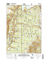 Yuma Michigan Current topographic map, 1:24000 scale, 7.5 X 7.5 Minute, Year 2016