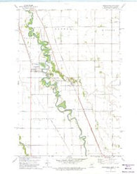 Abercrombie North Dakota Historical topographic map, 1:24000 scale, 7.5 X 7.5 Minute, Year 1973