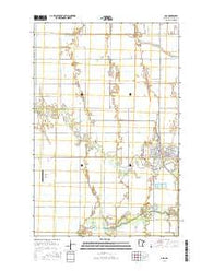 Ada Minnesota Current topographic map, 1:24000 scale, 7.5 X 7.5 Minute, Year 2016