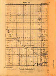 Ada Minnesota Historical topographic map, 1:62500 scale, 15 X 15 Minute, Year 1924