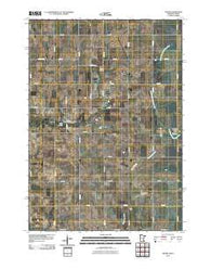 Adams Minnesota Historical topographic map, 1:24000 scale, 7.5 X 7.5 Minute, Year 2010