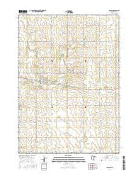 Adams Minnesota Current topographic map, 1:24000 scale, 7.5 X 7.5 Minute, Year 2016