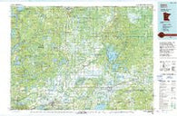 Aitkin Minnesota Historical topographic map, 1:100000 scale, 30 X 60 Minute, Year 1994