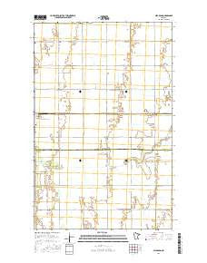 Alvarado Minnesota Current topographic map, 1:24000 scale, 7.5 X 7.5 Minute, Year 2016
