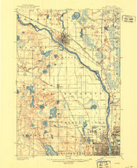Anoka Minnesota Historical topographic map, 1:62500 scale, 15 X 15 Minute, Year 1902