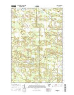 Automba Minnesota Current topographic map, 1:24000 scale, 7.5 X 7.5 Minute, Year 2016 from Minnesota Map Store