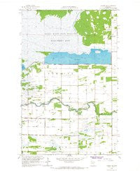 Badger NE Minnesota Historical topographic map, 1:24000 scale, 7.5 X 7.5 Minute, Year 1966