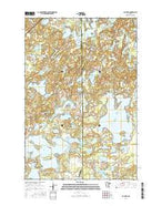 Bay Lake Minnesota Current topographic map, 1:24000 scale, 7.5 X 7.5 Minute, Year 2016 from Minnesota Map Store