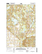Big Basswood Lake Minnesota Current topographic map, 1:24000 scale, 7.5 X 7.5 Minute, Year 2016 from Minnesota Map Store