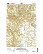 Big Rush Lake Minnesota Current topographic map, 1:24000 scale, 7.5 X 7.5 Minute, Year 2016 from Minnesota Map Store