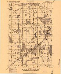Bridgie Minnesota Historical topographic map, 1:62500 scale, 15 X 15 Minute, Year 1919