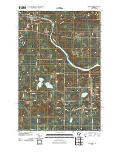 Brookston Minnesota Historical topographic map, 1:24000 scale, 7.5 X 7.5 Minute, Year 2010