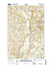 Browerville NE Minnesota Current topographic map, 1:24000 scale, 7.5 X 7.5 Minute, Year 2016 from Minnesota Maps Store