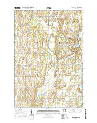 Browerville NE Minnesota Current topographic map, 1:24000 scale, 7.5 X 7.5 Minute, Year 2016