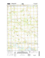 Cahill Lake Minnesota Current topographic map, 1:24000 scale, 7.5 X 7.5 Minute, Year 2016 from Minnesota Maps Store