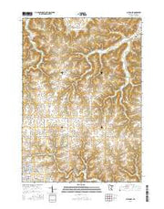 Caledonia Minnesota Current topographic map, 1:24000 scale, 7.5 X 7.5 Minute, Year 2016 from Minnesota Maps Store