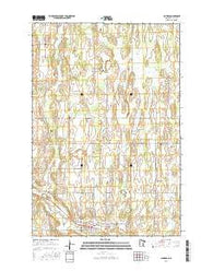 Clarissa Minnesota Current topographic map, 1:24000 scale, 7.5 X 7.5 Minute, Year 2016