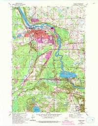 Cloquet Minnesota Historical topographic map, 1:24000 scale, 7.5 X 7.5 Minute, Year 1954