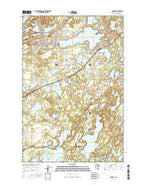 Crosby Minnesota Current topographic map, 1:24000 scale, 7.5 X 7.5 Minute, Year 2016 from Minnesota Map Store